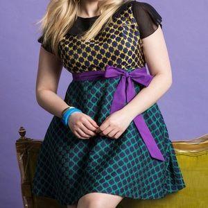 Eloquii 20 Plus yellow,purple,green formal dress